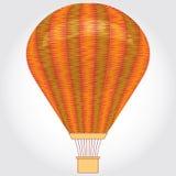 Orange ballong för varm luft på en vit bakgrund också vektor för coreldrawillustration Fotografering för Bildbyråer