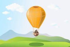 Orange balloon Stock Photos
