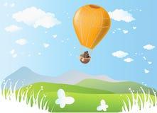 Orange balloon Stock Photography