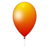 Orange balloon. Air balloon inflatable orange (illustration Royalty Free Stock Photo
