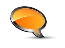 Orange balloon conversation Stock Photography