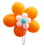 Orange Balloon Flower with Beads Royalty Free Stock Photography