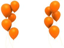 Orange balloons Stock Photos