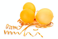 Orange Balloons. Stock Photography