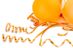 Orange balloons. Royalty Free Stock Photo