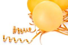 Orange balloons. Royalty Free Stock Images