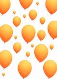 Orange balloons on white background Royalty Free Stock Photography