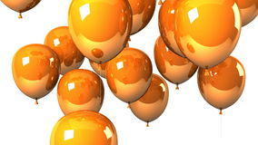 Orange Balloons On White Background stock footage