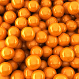 Orange balls background (3d render). The Orange balls background (3d render Stock Image