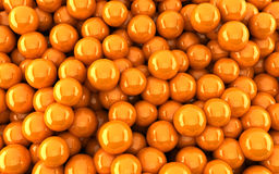 Orange balls background (3d render). The Orange balls background (3d render Royalty Free Stock Photography