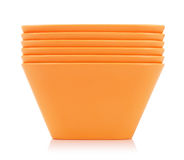 Orange Bamboo Bowls Set Stock Image