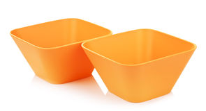 Orange Bamboo Bowls Stock Images
