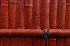 Orange bambuvägg royaltyfri bild