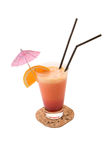 Orange and banana Cocktail Royalty Free Stock Image