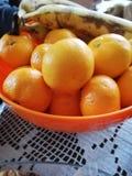 Orange, bananas stock photos