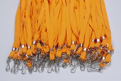 Orange band för emblem arkivbild