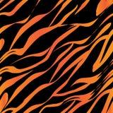 orange band för tiger och svarta band royaltyfri illustrationer