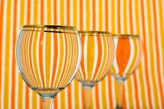 Orange bandexponeringsglas av vatten Arkivfoton
