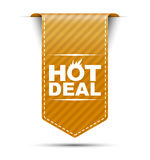 Orange  banner design hot deal Royalty Free Stock Photography