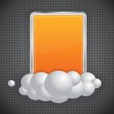 Orange Banner On Dark Background Royalty Free Stock Photos