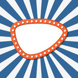 Orange banner over starry background Royalty Free Stock Photo