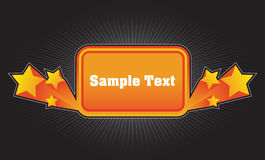 Orange banner with the stars Royalty Free Stock Image