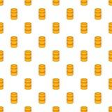 Orange barrel pattern, cartoon style Royalty Free Stock Photo