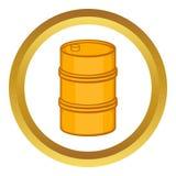Orange barrel vector icon Royalty Free Stock Image