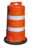 Orange barrel on white Stock Images