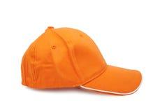 Orange baseball cap Royalty Free Stock Images
