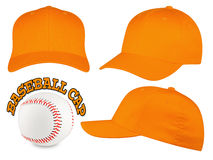 Orange baseball cap set Royalty Free Stock Image