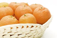 Orange basket Royalty Free Stock Images