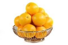 Orange basket Stock Image
