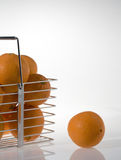 Orange basket Royalty Free Stock Image