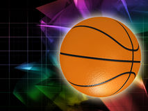 Orange basket ball Royalty Free Stock Images