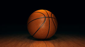 Orange basket ball. 3d rendering Royalty Free Stock Photos