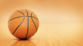 Orange basket ball. 3d rendering Stock Images