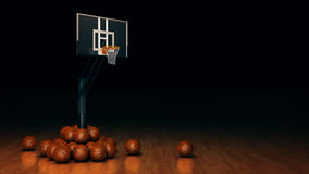 Orange basket ball. 3d rendering Royalty Free Stock Images