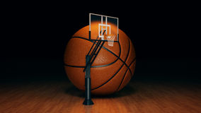 Orange basket ball. 3d rendering Royalty Free Stock Image