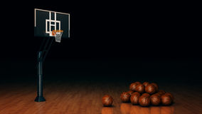 Orange basket ball. 3d rendering Stock Photos