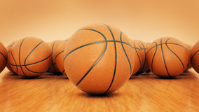 Orange basket ball. 3d rendering Stock Photography