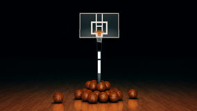 Orange basket ball. 3d rendering Royalty Free Stock Photo
