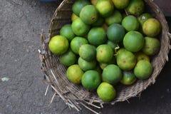 The orange basket Stock Image
