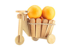 Orange in a basket Stock Photo