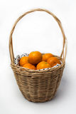 Orange in basket Stock Image