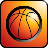 Orange basketball. Basketball on an orange background Royalty Free Stock Photos