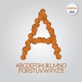 Orange Basketball Alphabet Vector Stock Photo