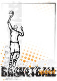 Orange Basketball background Stock Photo