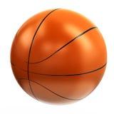 Orange basketball ball, 3d. Orange shiny basketball ball, 3d image Royalty Free Stock Photography