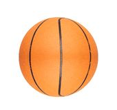 Orange basketball ball isolated on white Stock Image
